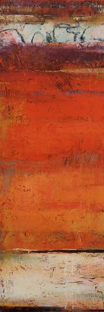 Jeannie Sellmer, Strata Four, oil 60 x 20 inches