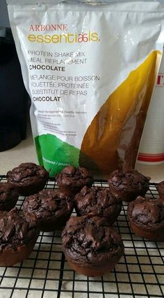 Yummy chocolate muffins. Made with only 5 ingredients. 3 scoops of Arbonne Chocolate Protein Powder 1 Tbs Cocoa 1 Tsp baking powder 1/4 cup egg whites 1/2 cup almond milk Mix and bake at 350 for 20-15 mins. Makes 4 per batch. Http://TaylorHutchins.Arbonne.com Consultant ID 22459551