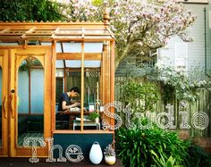 Studio Solution: A Kit Greenhouse Becomes a Creative Private Office | contemporary garage and shed Garden Studio