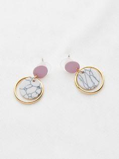 4e89b4d2515a Pendientes de gota de anillo de efecto mármol. Diseñadores De ModaRomweAccesorios  Para MujeresIdeas ...