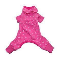 Pink Dog Clothes For Dog Jumpsuit Puppy Pet Dog Shirt Cat Cozy Pajama (M, Pink) *** For more information, visit image link.