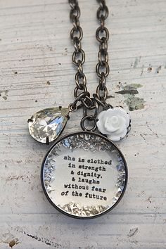 *She is Clothed in Strength - $40.00 : Beth Quinn Designs , Romantic Inspirational Jewelry