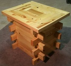 Pallet Recycled End Table made of recycled pallet wood, Reclaimed barn wood, Upcycled vintage lumber, Handmade, Rust - Recycled Pallets, Wood Pallets, Pallet Wood, Outdoor Pallet, Pallet Furniture, Rustic Furniture, Steel Furniture, Kitchen Furniture, Furniture Repair