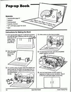 how to make pop up books instructions