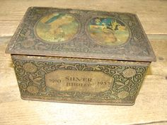 Vintage Collectable Tin Caddy Box George V Queen Mary Silver Jubilee 1910-1935 | eBay