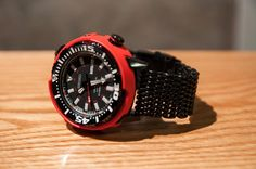 watcheswanted: Seiko SRP233 Limited Edition Baby Tuna on PVD Shark Mesh - $400-600