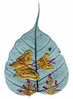 painted leaf art.