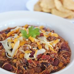 Slow Cooker Chicken Chili | If You Give A Blonde A Kitchen