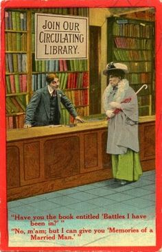 Library History Buff Blog: Library Postcard Humor