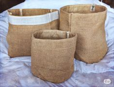 The ideal way to organize all your stuff at home or the office! Click to buy for $16.99 on ETSY. These strong and eco-friendly baskets are made from high quality, natural jute. Use these to put away laundry, or neatly organize your magazines or towels, socks, or as an indoor plant pot cover or a recycling bin, or even fill them up with a pillow for your pet! Every seam is hand secured by fabric tape to ensure further strength. These baskets will last you a long long time :) www.HeyJute.com
