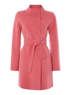 Marella Long sleeve belted wool coat