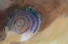 "Eye of the Sahara, Mauritania | Eye of the Sahara"" in Mauritania - The most unreal landscapes on ..."