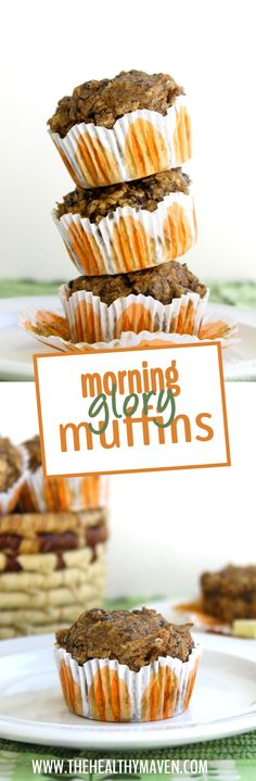 These Morning Glory Muffins are gluten-free and packed-full of nutrition to make an awesome and healthy breakfast on the go!