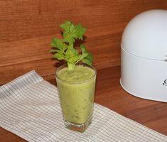 zielony koktajl oczyszczający Juice Smoothie, Fruit Smoothies, Healthy Shakes, Diet Recipes, Detox, Cocktails, Pudding, Desserts, Fitness