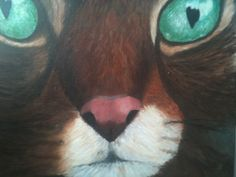 Otto, my recently deseased cat, acrylic paint