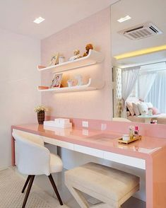 Most Popular Study Table Designs and Children's Chairs Today Home Room Design, Home Interior Design, Design Homes, Room Interior, Study Table Designs, Cute Room Decor, Girl Bedroom Designs, Home Office Decor, Home Decor