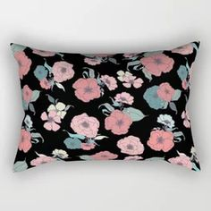 Gorgeous Summer_black Rectangular Pillow Down Pillows, Floor Pillows, Throw Pillows, Acrylic Box, Surface Pattern Design, Pillow Inserts, Tech Accessories, Creative Design, Original Artwork