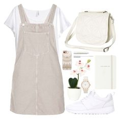 """""""Untitled #47"""" by tiaranurindaa ❤ liked on Polyvore featuring NIKE, Billabong, H&M, Topshop, Sia, Kate Spade, Casetify and tarte"""