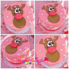 tarta navideña rudolf - cake rudolf - Christmas cake