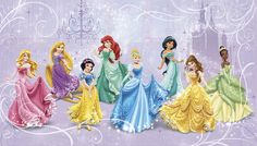 Make a royal debut with your favorite Disney Princess characters! You can delight your own little princess with this chair rail size Disney Princess wallpaper mural. It goes up easily in seven panels, and the SureStrip material comes off easily when your little one grows and wants a change. A perfect piece of room decor for a little princess!