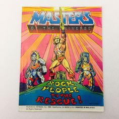 ROCK PEOPLE TO THE RESCUE 1985 Mini Comic He-Man Masters of the Universe MOTU