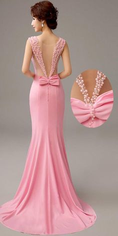 Womens Fashion - Fashion Evening Gowns Formal Dresses for Girl Coral Gown – inloveshe Girls Formal Dresses, Elegant Dresses, Pretty Dresses, Beautiful Dresses, Evening Dresses Online, Mermaid Evening Dresses, Evening Gowns, Mermaid Gown, Evening Dresses For Weddings