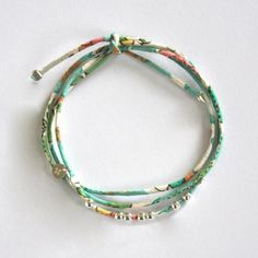 Fine Liberty bracelet and sterling silver beads. Handmade in France. ticha.bigcartel.com