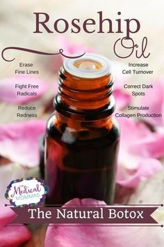 Rosehip Oil, the Natural Botox Extracted from the seeds of Rosa aff. rubiginosa or Rosa moschata flower, rosehip oil is getting rave reviews in the cosmetic ind