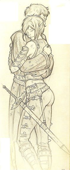 it is my beutifull sketch about sennar and nhial .of the book ''Le cronache del mondo emerso'' Nhial and Sennar Character Drawing, Character Concept, Character Design, D D Characters, Fantasy Characters, Fantasy World, Fantasy Art, Female Character Inspiration, Character Ideas