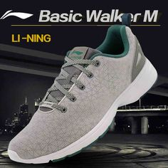 Li-Ning Men's Running Shoes Breathable Easy Run Sneakers EVA Outsole Footwear Soft Sports Shoes LINING ACGL051