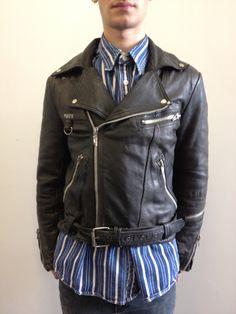 Men's vintage leather biker jacket. Click to buy!