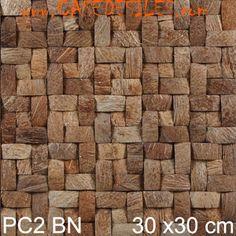 Revêtement mural naturel coques noix de coco PC2BN Pas Cher