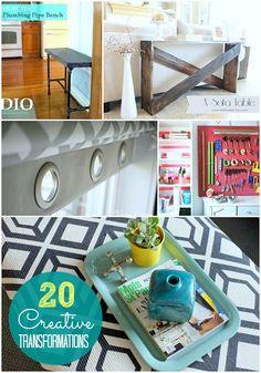 20 creative DIY transformations -- Tatertots and Jello #DIY