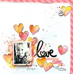 Little Nugget Creations: Mixed Media Heart Layout / Shimmerz