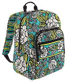 Vera Bradley Campus Backpack so cute
