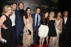 Sally Phillips, Jack Huston, Matt Smith, Bella Heathcote, Douglas Booth, Lily James, Ellie Bamber, and Millie Brady at Pride and Prejudice and Zombies (2016)