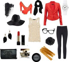 """touch of red"" by kendraaannn on Polyvore"