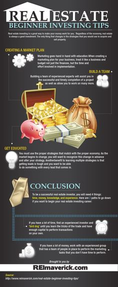 Real Estate Beginner Investing Tips http://www.reimaverick.com/real-estate-beginner-investing-tips-infographic/