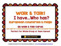 GEOGRAPHY - EUROPE COUNTRIES & FLAGS GAME - I HAVE, WHO HAS? by LivelyLearning - Teaching Resources - TES