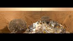 Mars Phoenix panorama in 360°