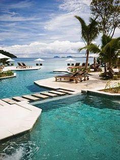 luxury pool in Fiji