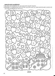 Album Archive - 456 numero mania del 1 al 30 School Worksheets, Kindergarten Worksheets, Math Sheets, Elementary Spanish, Math School, Math Strategies, Learning Numbers, Puzzles For Kids, Fun Math
