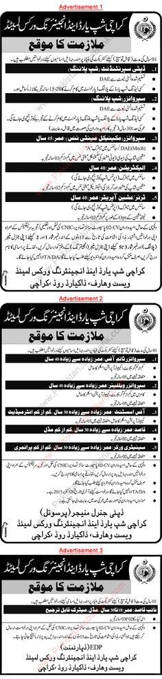 Jobs in Pakistan: Karachi Shipyard and Engineering Works Jobs 2015 O...