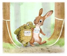 Syd's Illustrations | An updated version of my tortoise and hare...