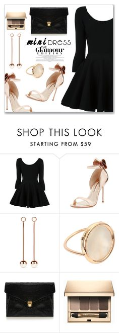 """""""Holiday Chic: Mini Dresses"""" by dressedbyrose ❤ liked on Polyvore featuring Valentino, Sophia Webster, Ryan Storer, Ginette NY, J.Lindeberg, Clarins, chic, holiday, minidress and polyvoreeditorial"""
