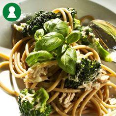 Nem pastaret med tun og broccoli