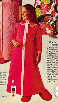 Mom would buy these for me all the time (matching robe and slippers) when I was small!