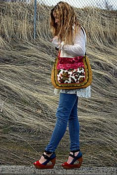 Hey, I found this really awesome Etsy listing at https://www.etsy.com/listing/224370676/floral-pink-and-yellow-gypsy-bag