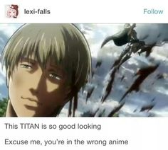 He can't be a titan!