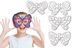 Set de 4 masques Papillons NL